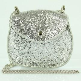 Torebka kuferek dziewczęcy Inca 62072 kolor srebrny
