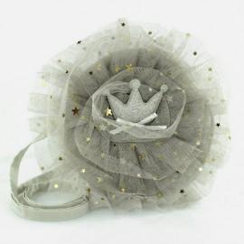 Torebka dziewczęca Inca 62088 korona kolor srebrny