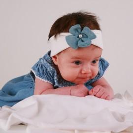 Pupil opaska dziewczęca ROSA kolor biały/niebieski