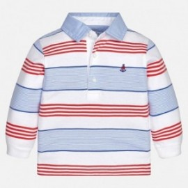 Mayoral 1148-70 Koszulka chłopięca kolor biały/czerwony/niebieski