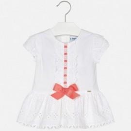 Mayoral 1920-32 Sukienka dziewczęca kolor biały