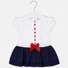 Mayoral 1920-33 Sukienka dziewczęca kolor biały/granat