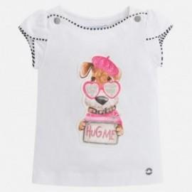 Mayoral 3004-29 Koszulka dziewczęca kolor biały