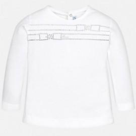 Mayoral 109-37 Koszulka dziewczęca kolor biały