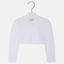 Mayoral 320-39 Sweter dziewczęcy kolor biały