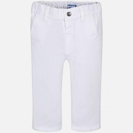 Mayoral 522-69 Spodnie chłopięce kolor biały