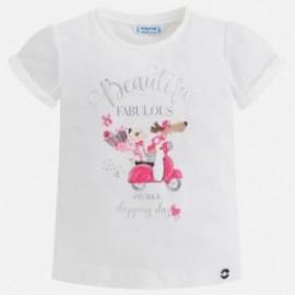 Mayoral 3008-95 Koszulka dziewczęca kolor biały