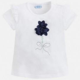 Mayoral 3018-53 Koszulka dziewczęca kolor biały