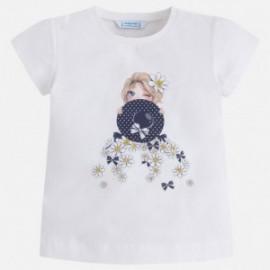 Mayoral 3032-83 Koszulka dziewczęca kolor biały