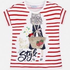 Mayoral 3034-30 Koszulka dziewczęca kolor czerwony