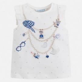 Mayoral 3044-12 Koszulka dziewczęca na ramiączkach kolor granat