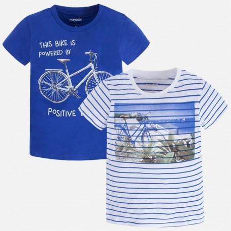 Mayoral 3071-46 Komplet 2 koszulki chłopięce kolor niebieski