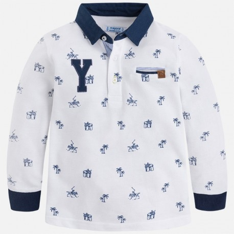 Mayoral 3180-76 Koszulka chłopięca polo kolor Biały