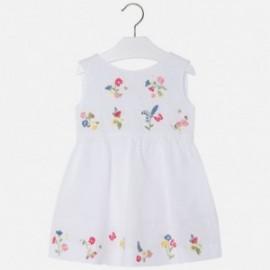 Mayoral 3988-48 Sukienka dziewczęca kolor biały