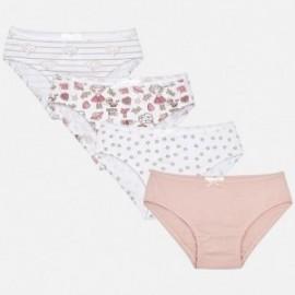 Mayoral 10392-38 Zestaw dziewczęcy kolor biały/różowy