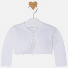 Mayoral 318-59 Sweter dziewczęcy kolor biały