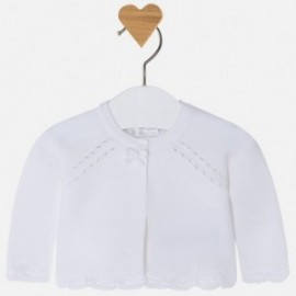 Mayoral 325-26 Sweter dziewczęcy kolor biały