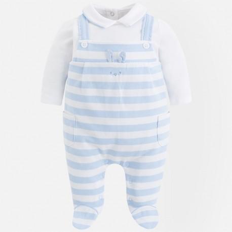 Mayoral 1606-35 Pajacyk niemowlęcy ogrodniczki kolor błękitny
