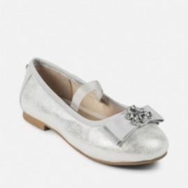 Mayoral 45863-69 Balerinki dziewczęce kolor srebrny