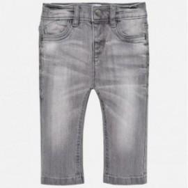 Mayoral 30-59 Spodnie chłopięce jeans regular fit kolor szary