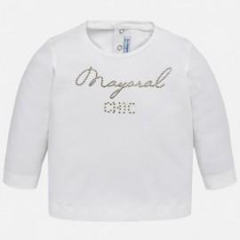 Mayoral 116-38 Koszulka dziewczęca kolor Kremowy