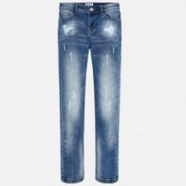 Mayoral 556-25 Spodnie dziewczęce jeans kolor niebieski