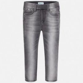 Mayoral 577-40 Spodnie dziewczęce jeans kolor szary