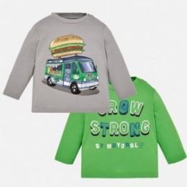 Mayoral 2026-86 koszulki chłopięce 2 sztuki kolor szary/zielony