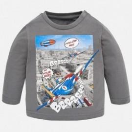 Mayoral 2036-43 Koszulka chłopięca samolot kolor szary