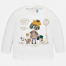 Mayoral 2046-32 Koszulka dziewczęca kolor krem/bursztyn