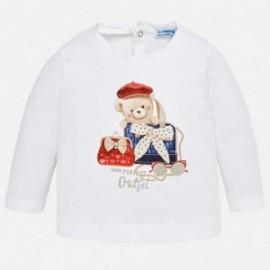 Mayoral 2050-16 Koszulka dziewczęca kolor biały/czerwony