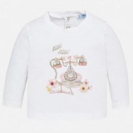 Mayoral 2050-17 Koszulka dla dziewczynki kolor biały/róż