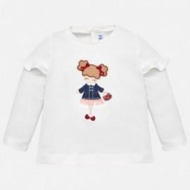 Mayoral 2058-61 Koszulka dziewczęca kolor kremowy