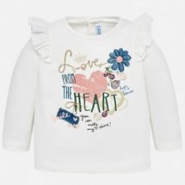 Mayoral 2062-50 Koszulka dziewczęca kolor Kremowy