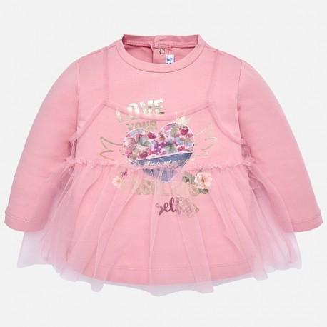 Mayoral 2064-15 Koszulka dziewczęca tiul kolor róż