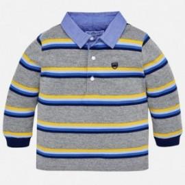 Mayoral 2112-78 Koszulka chłopięca polo kolor popiel