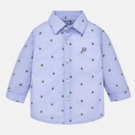 Mayoral 2130-23 Koszula chłopięca wzory kolor błękitny