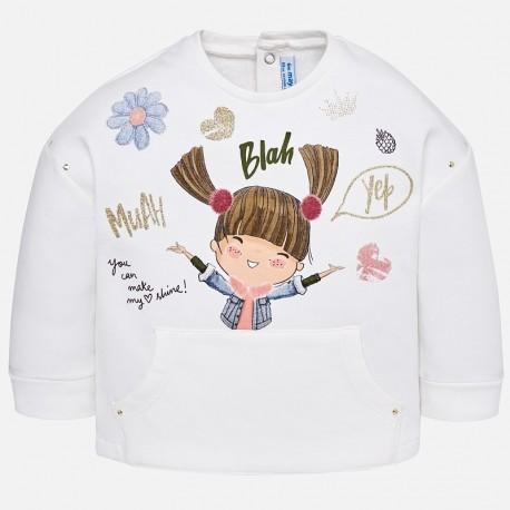Mayoral 2495-57 Bluza dziewczęca kolor krem