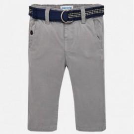 Mayoral 2562-52 Spodnie chłopięce z paskiem kolor popiel