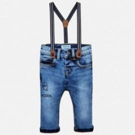 Mayoral 2564-92 Spodnie chłopięce jeans z szelkami kolor granat