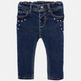 Mayoral 2576-28 Spodnie dziewczęce kolor ciemny jeans