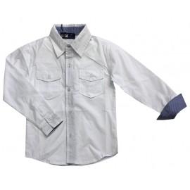 Koszula import biała kieszonki