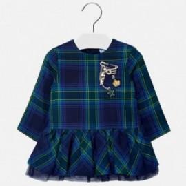 Mayoral 2926-18 Sukienka dziewczęca w kratkę kolor granat