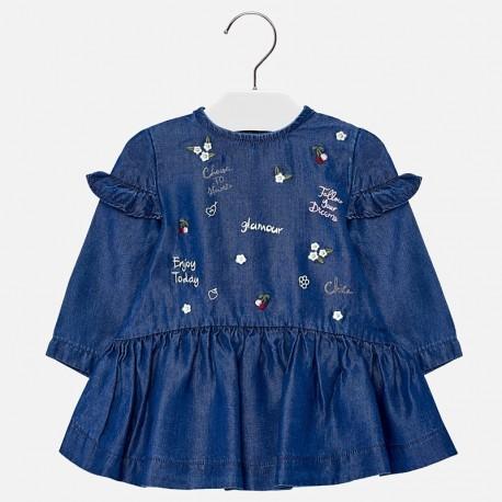 Mayoral 2950-5 Sukienka dziewczęca jeans kolor granat
