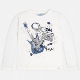 Mayoral 4068-78 Koszulka dziewczęca kolor kremowy