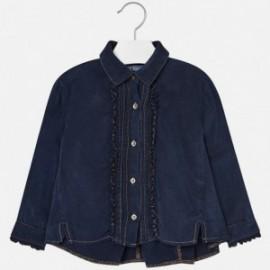 Mayoral 4130-63 Bluzka dziewczęca jeans kolor granat