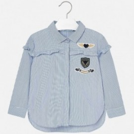 Mayoral 4134-48 Bluzka dziewczęca kolor niebieski