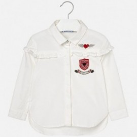 Mayoral 4134-50 Bluzka dziewczęca kolor krem