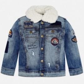 Mayoral 4484-5 Kurtka chłopięca jeans kolor niebieski