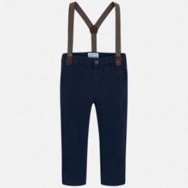 Mayoral 4518-78 Spodnie chłopięce z szelkami kolor granat